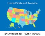 map of the usa. image with...   Shutterstock .eps vector #425440408