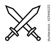 swords   blades crossed  fight... | Shutterstock .eps vector #425446252