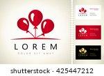 balloons logo vector | Shutterstock .eps vector #425447212