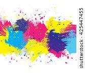 vector white watercolor... | Shutterstock .eps vector #425447455