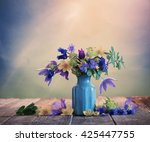 still life with beautiful... | Shutterstock . vector #425447755
