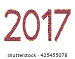multi colored numbers of year... | Shutterstock .eps vector #425455078