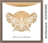 butterfly. laser cut envelop....   Shutterstock .eps vector #425460385