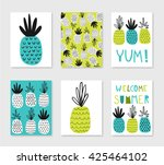 welcome summer. set of cute... | Shutterstock .eps vector #425464102