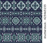 vector tribal mexican vintage... | Shutterstock .eps vector #425465155