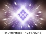 abstract  violet fractal... | Shutterstock . vector #425470246