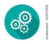 cogwheel gear circle icon with... | Shutterstock .eps vector #425472952