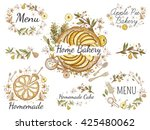 beautiful vintage hand drawn... | Shutterstock .eps vector #425480062