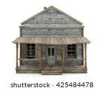 Abandoned Wooden House Isolated ...