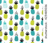 seamless vector pattern with... | Shutterstock .eps vector #425485036