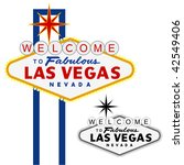 vector las vegas sign  fully... | Shutterstock .eps vector #42549406