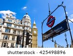london  parliament square with... | Shutterstock . vector #425498896