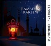 ramadan kareem islamic... | Shutterstock .eps vector #425500756
