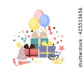 celebration party carnival... | Shutterstock .eps vector #425513656