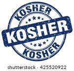 kosher. stamp | Shutterstock .eps vector #425520922