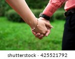 a man and a woman with a... | Shutterstock . vector #425521792