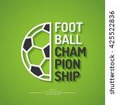 poster for the football... | Shutterstock .eps vector #425522836