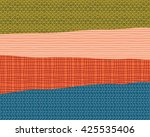 abstract design with hand drawn ... | Shutterstock .eps vector #425535406