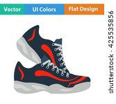 fitness sneakers icon. vector...