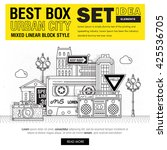modern best box urban city... | Shutterstock .eps vector #425536705