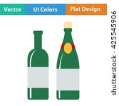 wine and champagne bottles icon....