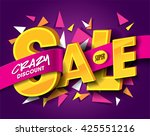 sale concept vector banner with ... | Shutterstock .eps vector #425551216
