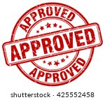 approved. stamp   Shutterstock .eps vector #425552458