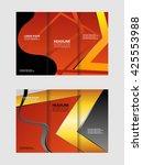 tri fold pizza store brochure... | Shutterstock .eps vector #425553988