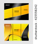 tri fold brochure and catalog... | Shutterstock .eps vector #425558242