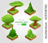 set with isometric tree in...   Shutterstock .eps vector #425558782