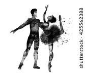 ballet. watercolor. | Shutterstock . vector #425562388