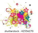 abstract colorful grunge... | Shutterstock .eps vector #42556270