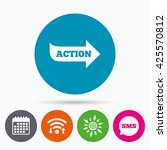 wifi  sms and calendar icons.... | Shutterstock .eps vector #425570812