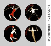 vector illustration of athletes.... | Shutterstock .eps vector #425573746