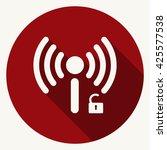 wifi icon   Shutterstock .eps vector #425577538