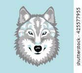 wolf head graphic stylization | Shutterstock .eps vector #425577955