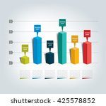 3d design graph. infographics... | Shutterstock .eps vector #425578852