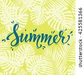 Summer Poster. Hand Lettering...