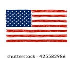 doodle drawing american flag... | Shutterstock .eps vector #425582986