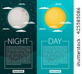 day and night vector... | Shutterstock .eps vector #425585086