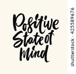 positive state of mind. hand... | Shutterstock .eps vector #425589676