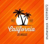 california west coast los...   Shutterstock .eps vector #425593072