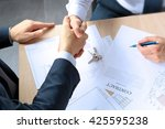 close up image of a firm... | Shutterstock . vector #425595238