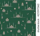 ramadan kareem vector design... | Shutterstock .eps vector #425597362