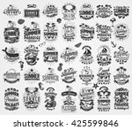 retro hand drawn elements for... | Shutterstock .eps vector #425599846