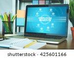 employee benefits chart with... | Shutterstock . vector #425601166