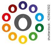 chiku  the sapodilla is a long...   Shutterstock . vector #425601502