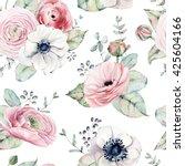 elegant seamless pattern  in... | Shutterstock . vector #425604166