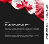 celebrating canada independence ... | Shutterstock . vector #425605606