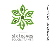 vector leaf eight with natural... | Shutterstock .eps vector #425606992